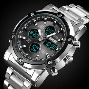 Fashion Mens Wristwatch Waterproof Military Analog Digital Watches Chronograph