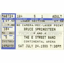 BRUCE SPRINGSTEEN Concert Ticket Stub EAST RUTHERFORD NJ 8/9/99 REUNION TOUR