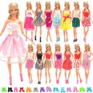 Barwa for Barbie 5 fixed style skirt + 7 random suspender skirt + 10 shoes
