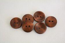 10 pcs Wooden Buttons 20mm Sewing Buttons Brown art. 346