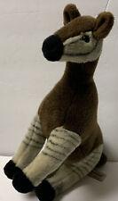 "Aurora OKAPI Plush African Stuffed Animal Brown Black & White Stripes 13"" Rare"