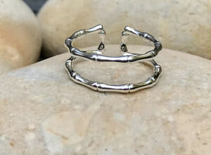925 Solid Sterling Silver Ring, Adjustable Ring, Double Band Ring, Thumb Ring