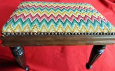 Antique Mahoghany Footstool ~ 1910-1920 ~ Beautiful & Sturdy ~ New Cover