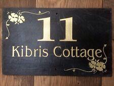 Número de direcciones de placa de pizarra nombre nombre de la casa para su hogar