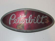 LARGE Vintage Peterbilt Semi Truck Emblem Trim Decal Metal Chrome Rare Ornament