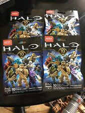 Halo Mega Construx 10th Anniversary Series Mystery Blind BagsNEW 4 Bags