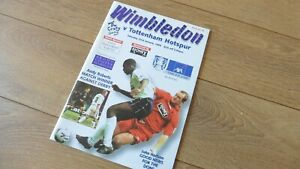 Wimbledon v. Tottenham - FA Cup 4th Round 1998/99 Programme