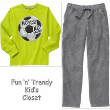 NWT Gymboree MIX N MATCH Boys Size Small 5-6 Soccer Tee Shirt & Pants 2-PC SET