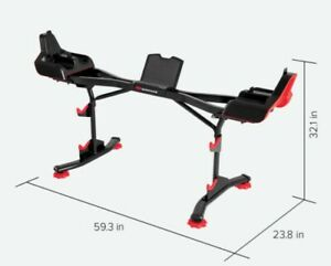 Brand New Bowflex SelectTech 2080 Barbell Stand with Media Rack - Ready To Ship