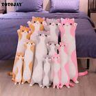 110CM Cute Soft Long Cat Pillow Toys Stuffed Office Sleep Décor Gift Doll Kids