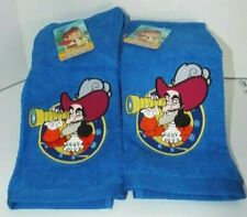 """Jack Discovery Hand Towels Embroidered by Disney Junior 28"""" x 16"""" Lot 2"""