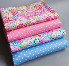 4PCS 40CMx50CM patchwork cotton fabric sewing tissue doll cloth craft material