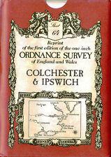Ordnance Survey Map # 64: Colchester Ipswich David & Charles Sheet map, folded