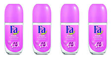 4x SCHWARZKOPF FA PINK PASSION FLORAL Scent ANTIPERSPIRANT Deo Roll On for Women