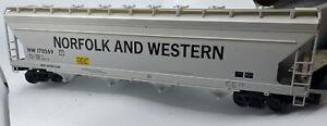 Rare Early Weaver ACF Center Flow Covered Hopper 4-Bay Norfolk & Western O Gauge
