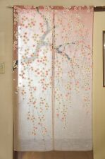 "Noren(Japanese curtain)  ""Gradation weeping cherry tree"" from Japan  10087"