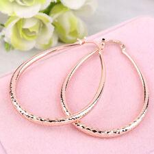 New Women Fashion Jewelry Copper Alloy Lady Elliptical Hoop Dangle Drop Earrings