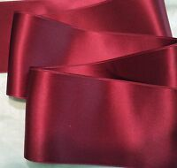 """2-3/4"""" WIDE SWISS DOUBLE FACE SATIN RIBBON-  CRANBERRY RED-   BTY"""