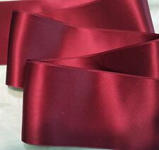 "2"" WIDE SWISS DOUBLE FACE SATIN RIBBON-  CRANBERRY RED-   BTY"