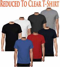 Hombre Liso Camiseta Manga Corta Algodón Canalé Cuello Redondo Casual Top