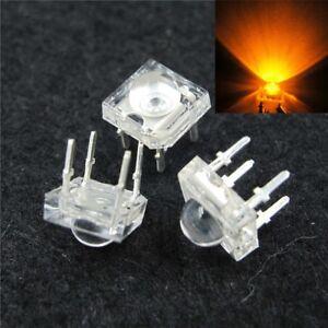 S885 - 50 Piece LED 0 3/16in Orange Superflux Piranha 120° Leds