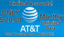 At&t Unlimited Data, Lte Data Account, Monthly You Own it $20