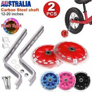 "Kids Children Bike Safety Training Wheels 12""-20"" LED Flash Bicycle Stabilisers"