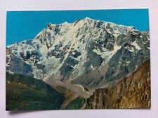 Vintage Italian colour Postcard c1970s Macugnaca, Mt. Rosa