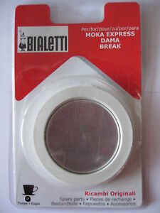 Bialetti Moka Fiammetta Spare Replacement Coffee Maker seal & f.1 2 3 4 6 9 12