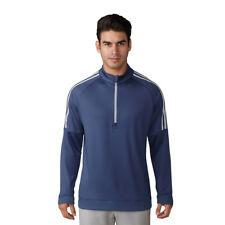 adidas Golf Mens 2018 3-stripes 1/4 Zip Pullover Jumper Fleece Sweater Nobel Indigo XXL