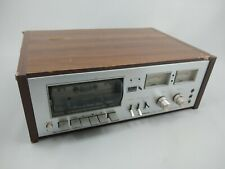 Pioneer Cassette Tape Deck CT-F7272 Wood Cabinet Silver Vintage Parts Or Repair