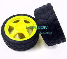 Arduino Small Smart Car Model Robot Plastic Tire Wheel 65x26mm New