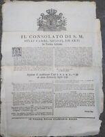 1779 143) BANDO DA TORINO SUI DVIETI DI COMMERCIARE TESSUTI DI LANA
