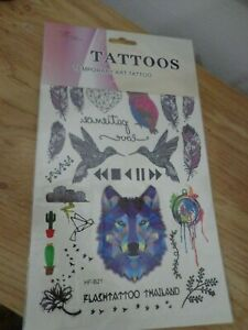 Temporary Tattoos new in pack L@@K