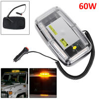 60W LED Amber Warning Strobe Light Recovery Car Flashing Magnetic Beacon Light