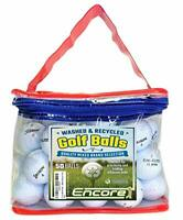 50 Lake Balls Golf Balls Mainly A Grade Recycled & Washed with Durable & Stylish