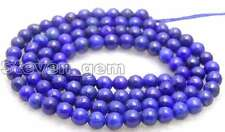 "6mm Round Blue Natural Lapis Lazuli Loose Beads for Jewelry Making DIY 15"" lo628"