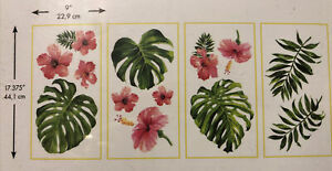 RoomMates RMK3904SCS Flowers , Leaves Peel and Stick Wall Decor