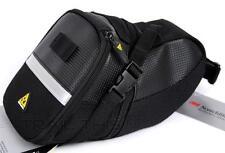 Topeak Large Aero Wedge Bicycle Seat Bag / Saddle Pack QR Straps Black - TC2262B