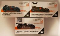 Hot Wheels id Vehicle Lot - Justice League, Arkham Knight and Dark Knight Lot