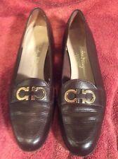 Women's Salvatore Ferragamo Brown Leather Bridle Bit Dress Shoes Size 7.5 AA