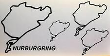 KIT 4 adesivi NURBURGRING decal sticker ritagliato NB pista racing AUTO GERMANY