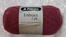 Patons Embrace 2 Ply #906 Rose 50g Wool & Silk Luxury Lace Yarn