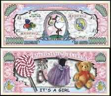 It'S A Girl Million Dollar Novelty Bill -Lot Of 2 Bills