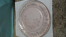 Depression glass pink federal Sharon/cabbage rose 9'' dinner plate 1935-39