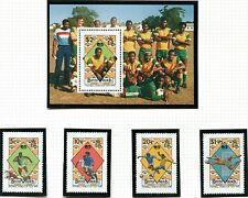 BVI 1990 ITALY FOOTBALL WORLD CUP MINIATURE SHEET & SET OF ALL 4 MNH