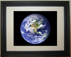 Planet Earth  Outer Space Solar System NASA  Framed Photo Picture
