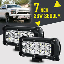 """2X 7"""" 36W CREE LED Work Light Bar SPOT BEAM Offroad Fog Lamp Truck For Jeep Ford"""