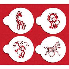 Designer Stencils C787 Jungle Animals Cookie Stencil Set