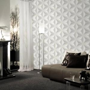 Scandinavian 2 Grey 3D Flower Wallpaper Paste the Wall Modern Floral 96042-1
